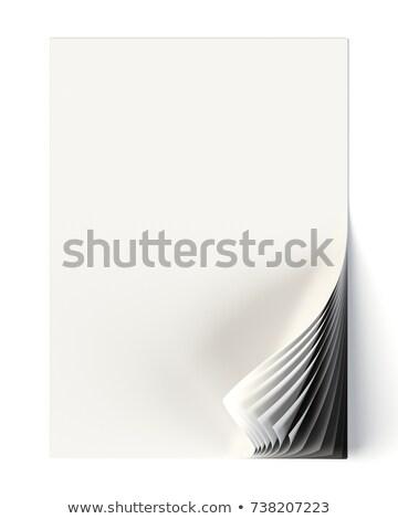 Branco documento para cima monocromático canto Foto stock © pakete