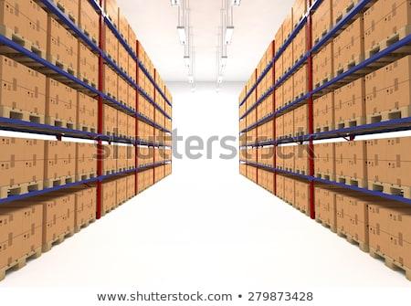 Zdjęcia stock: Magazynu · półki · pola · detalicznej · logistyka