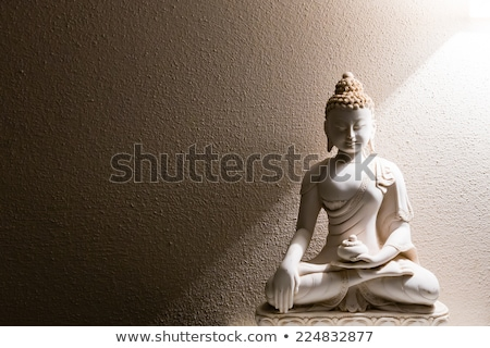 Antica buddha statua seduta rovine cielo blu Foto d'archivio © Yongkiet