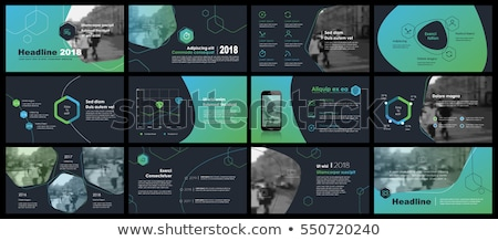 dark vector abstract infographic template stock photo © orson