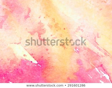 Hellen rosa gelb Wasserfarbe splatter Wasser Stock foto © SArts