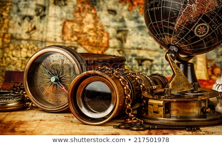 Vintage items on brown background Stock photo © bluering