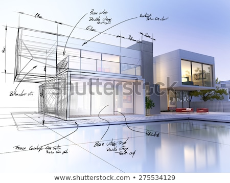 architectural house plan stock photo © biv