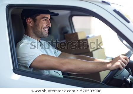Vista lateral homem condução tem moço mini Foto stock © wavebreak_media