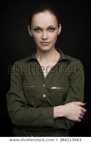 fashion woman low key portait Stock photo © chesterf