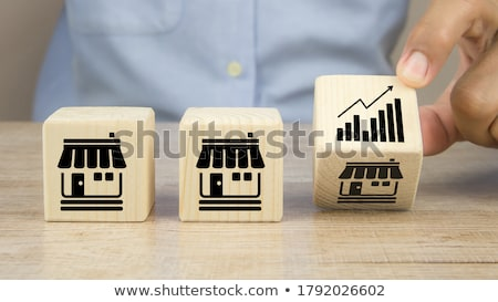 Place a wooden block lines Stock photo © snowing