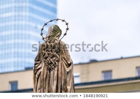 jesus · cristo · mármore · estátua · mãos - foto stock © artjazz