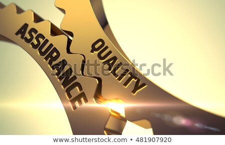 Stock photo: High Improvement Concept. Golden Cog Gears. 3D Illustration.