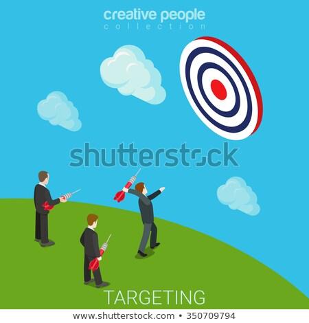 3d businessman throwing dart stock photo © 3dmask