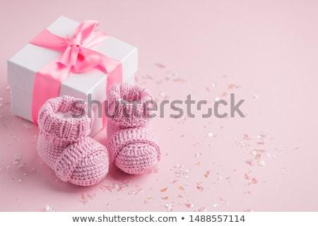 Welkom baby creatieve foto papier Blauw Stockfoto © Fisher