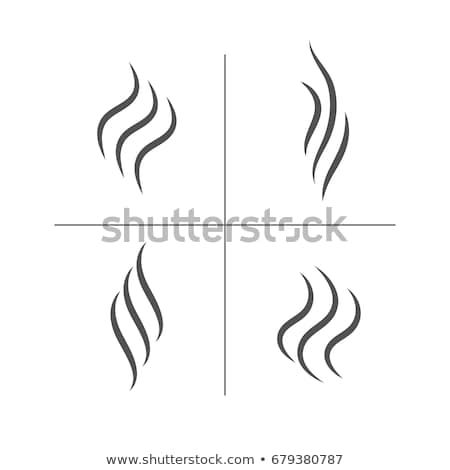 Smoke and steam smell lines, gas icon, aroma flow Stock photo © Andrei_