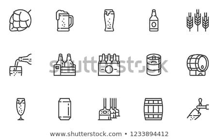Bierfles lijn icon vector geïsoleerd witte Stockfoto © RAStudio