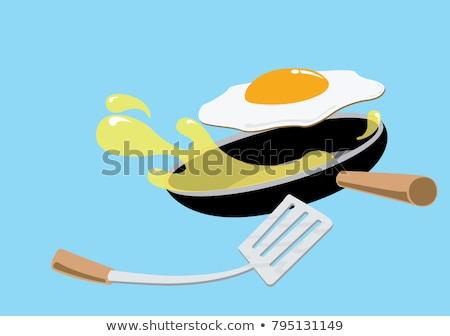 chef · kok · karakter · koekenpan · restaurant · koken - stockfoto © rogistok