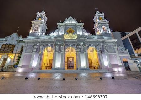 Virgem catedral Argentina blue sky edifício cidade Foto stock © daboost