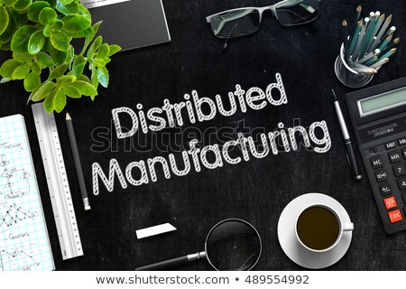Distributed Manufacturing on Black Chalkboard. 3D Rendering. Stock photo © tashatuvango