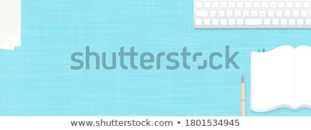 Keyboard with Blue Keypad - Trading. 3D. Stock photo © tashatuvango