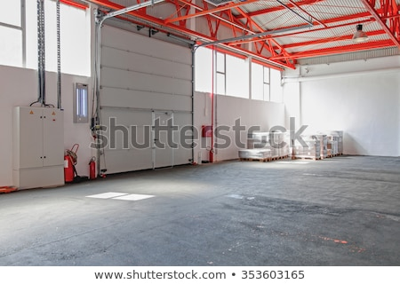 Stock photo: big industry garage door