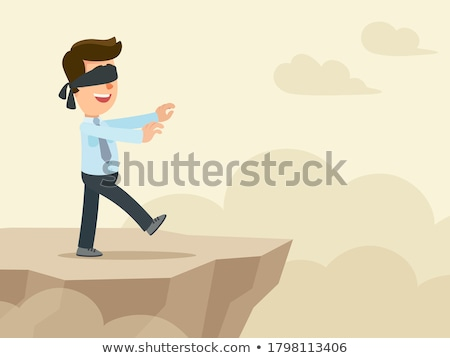 Férfi sétál csukott szemmel üzlet üzletember városi Stock fotó © IS2