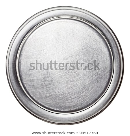Round Metal Plate Photo stock © donatas1205