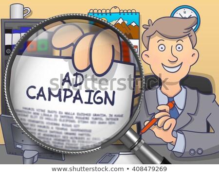 кампания объектив болван стиль бумаги Сток-фото © tashatuvango