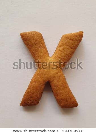 Stok fotoğraf: X Letter Cookies Cookie Font Oatmeal Biscuit Alphabet Symbol