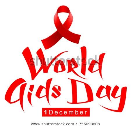Laço símbolo mundo sida dia Foto stock © orensila