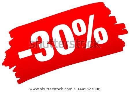 3D · harminc · százalék · izolált · fehér · el - stock fotó © oakozhan