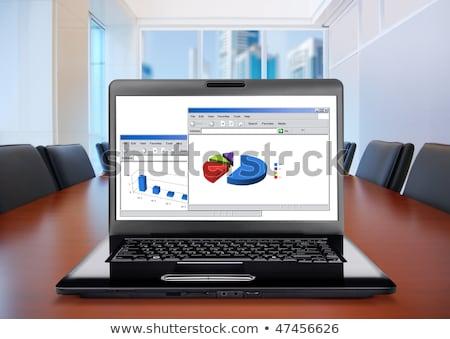 business innovation on laptop in conference room stock photo © tashatuvango