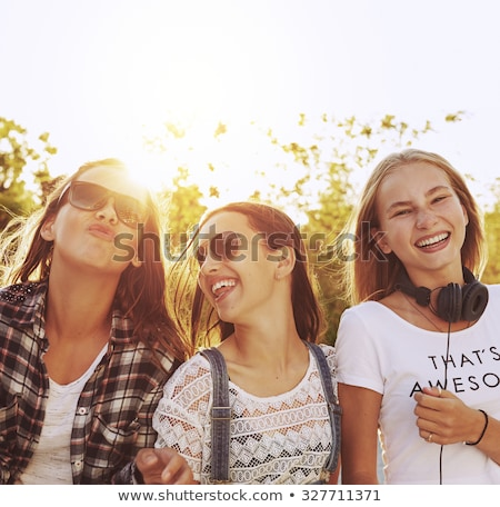 Playful teenager girl stock photo © MikLav