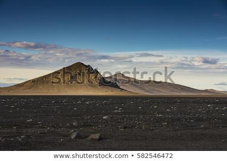 Vulkanisch landschap schemering centraal wolken berg Stockfoto © RazvanPhotography