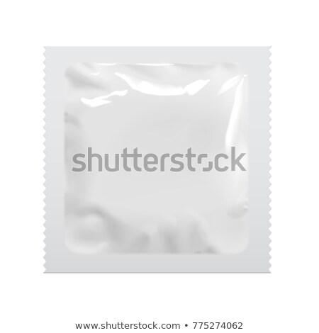 Condoom verpakking geïsoleerd witte zak penis Stockfoto © magraphics
