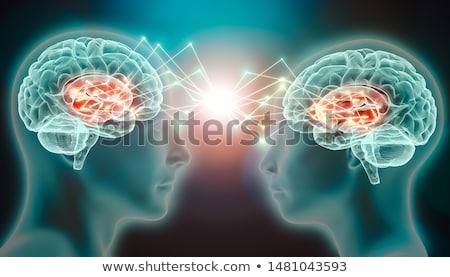 Hersenen telepathie geest lezing psychologie mentaal Stockfoto © Lightsource