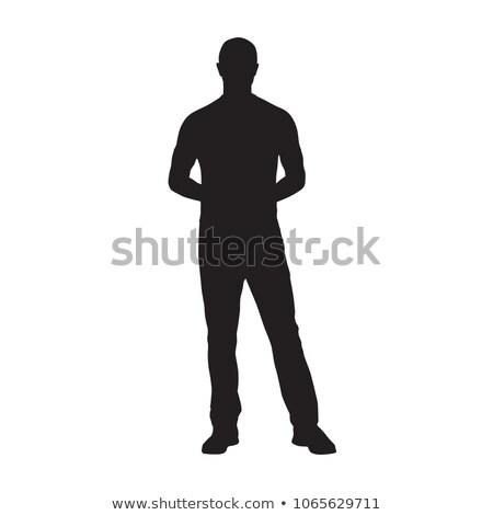 Athlete standing with hand on hip Stock photo © wavebreak_media