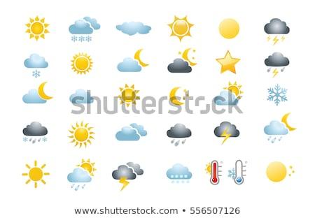 tempo · previsão · colorido · vetor · temporadas - foto stock © nezezon