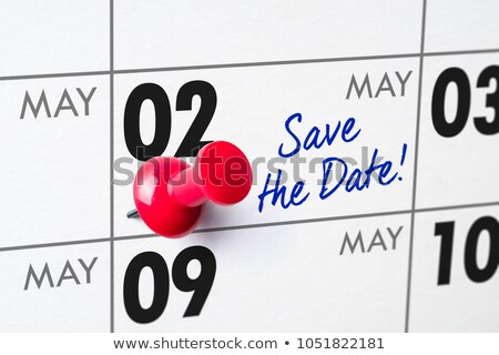 wall calendar with a red pin   may 02 stock photo © zerbor