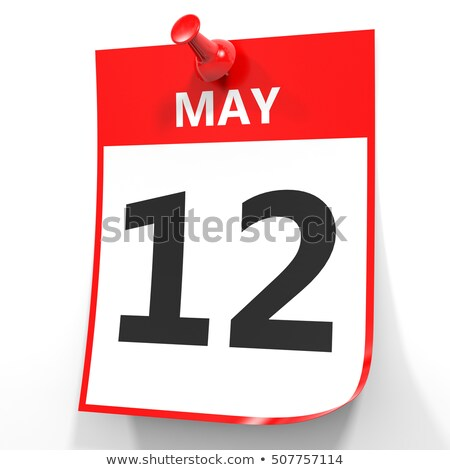 wall calendar with a red pin   may 12 stock photo © zerbor