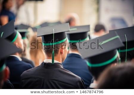 Férfi diplomás egyetem főiskola képregény rajz Stock fotó © rogistok