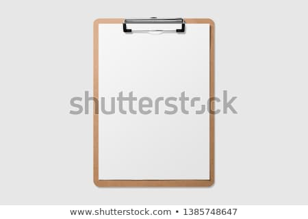 Isolated Blank Clipboard with Pen Stock photo © sidewaysdesign