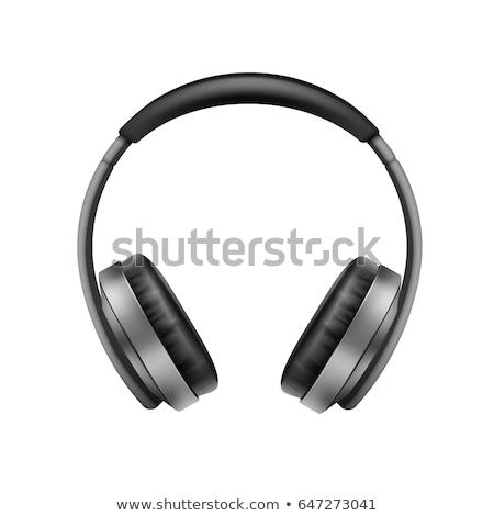Superior vista ilustración auriculares aislado blanco Foto stock © Sonya_illustrations