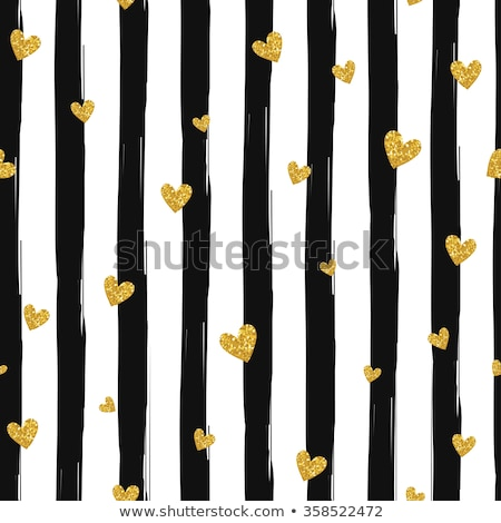 seamless gold pattern with hearts on a black background stock photo © foxysgraphic