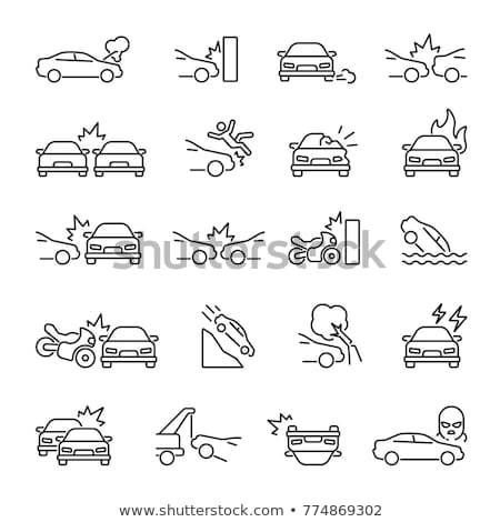 Weg ingesteld lijn ontwerp stijl iconen Stockfoto © Decorwithme