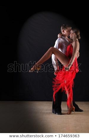 Güzel tango balerin poz yalıtılmış beyaz Stok fotoğraf © hsfelix