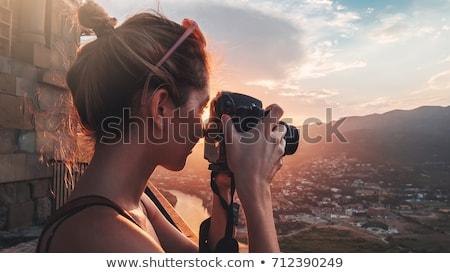 川 · 高い · 山 · ストリーム · 観光 - ストックフォト © is2