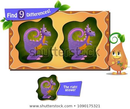 恐竜 ゲーム 違い 子供 大人 タスク ストックフォト © Olena