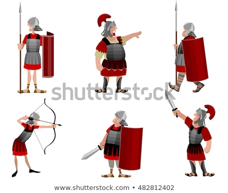 Cartoon Roman Soldier Character Stock photo © Krisdog
