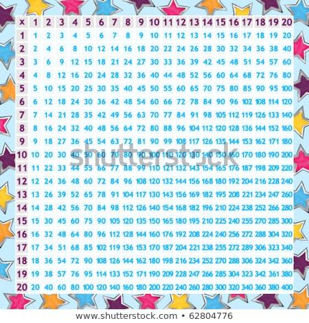 aantal · vier · tabel · illustratie · meisje · tijd - stockfoto © bluering