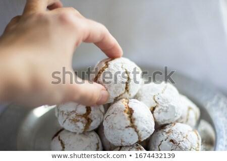 italian almond cookie amaretti stock photo © melnyk