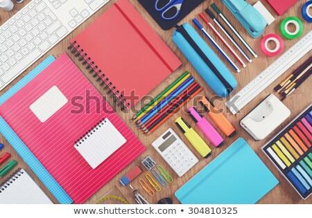 okul · malzemeleri · çerçeve · sınır · öğrenme · araçları · bilgisayar - stok fotoğraf © lana_m