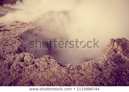 Sol de manana hot mud in sud Lipez reserva, Bolivia Stock photo © daboost