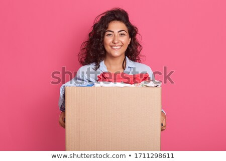 Beauty staff women_text box Stock photo © toyotoyo
